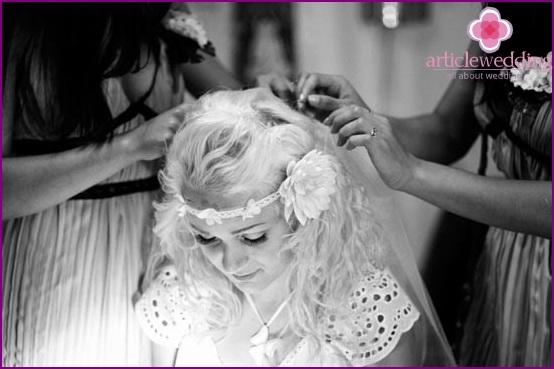 Hippie Wedding Hairstyle