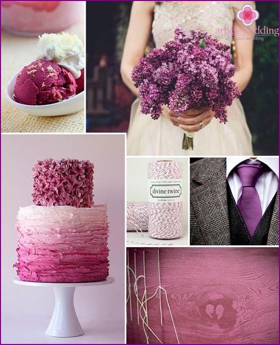 Bridal bouquet in lilac color