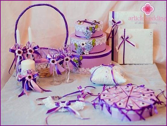 Lilac Wedding Accessories