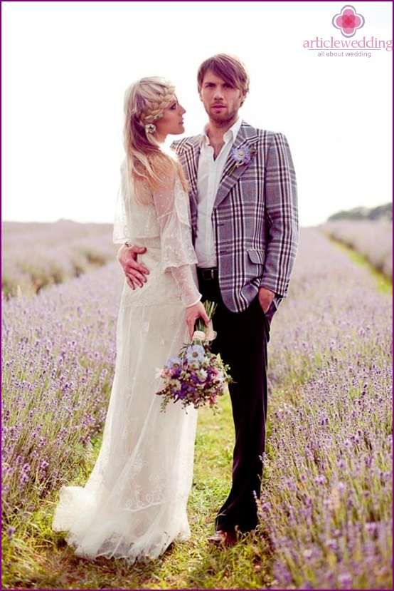 Provence style groom