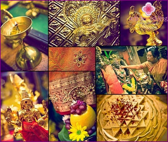 Indian symbols for the wedding