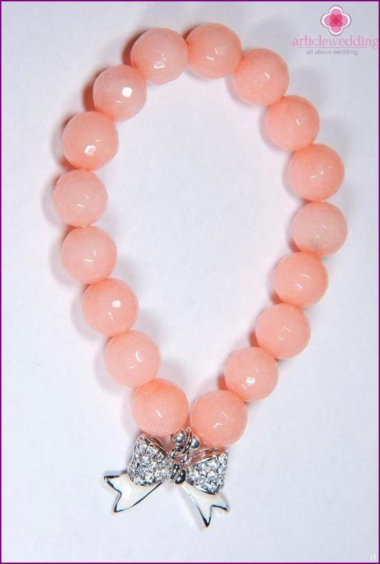 Peach hand bracelet