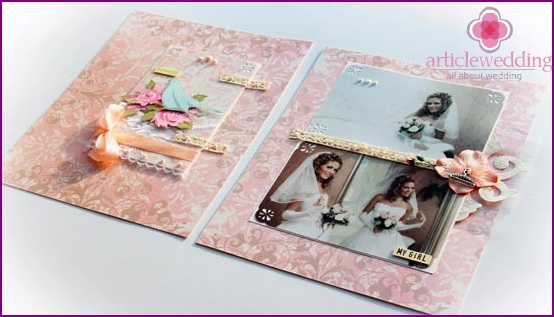 Pink Peach Wedding Album
