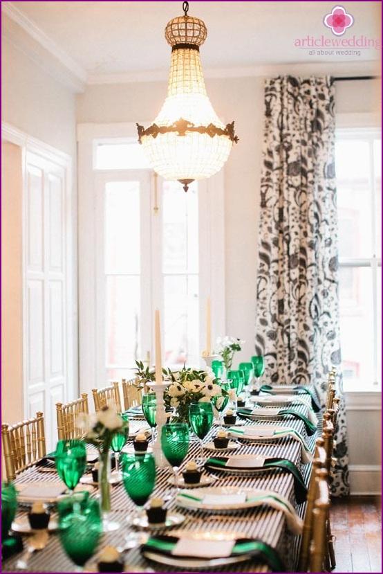 Smaragd Farbe Hochzeit