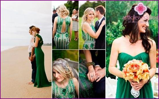 Smaragd Farbe Brautkleider Optionen