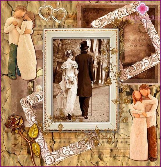 Anniversary photo collage