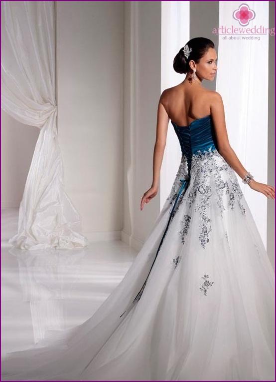 Blue corset wedding dress