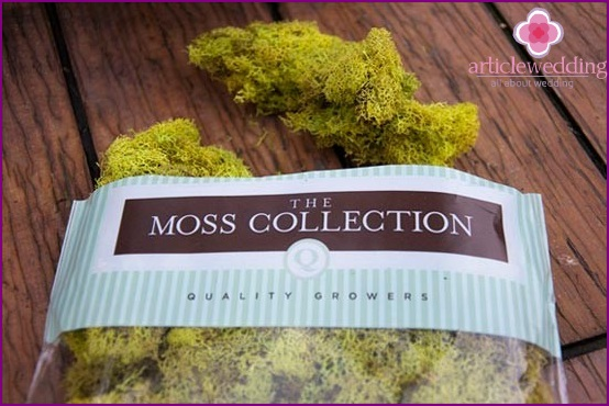 Moss for decoration