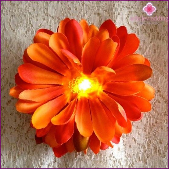 Fabric luminous flower