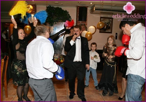 Cheerful toastmaster for a wedding