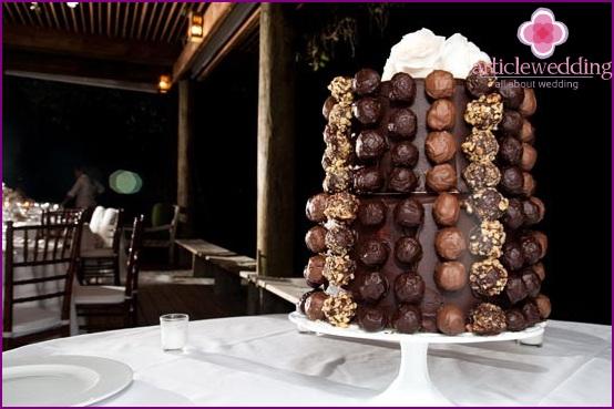 Entourage chocolate wedding