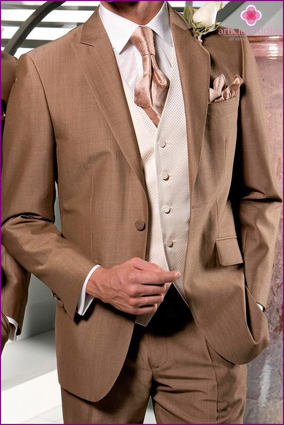 Noble shades of a suit of the groom