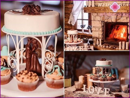 The nuances of decorating a chocolate wedding