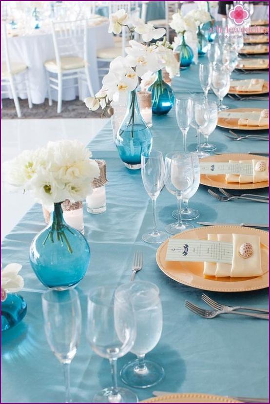 Wedding decoration in blue