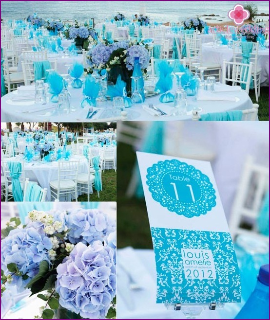 The tenderness and lightness of the wedding in blue