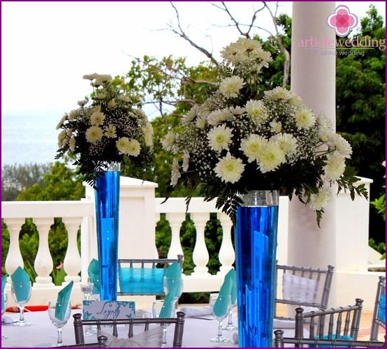 The color scheme of the wedding ceremony