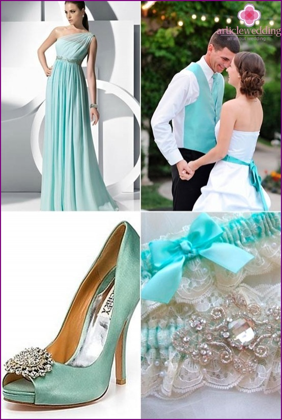 Color accents for newlyweds