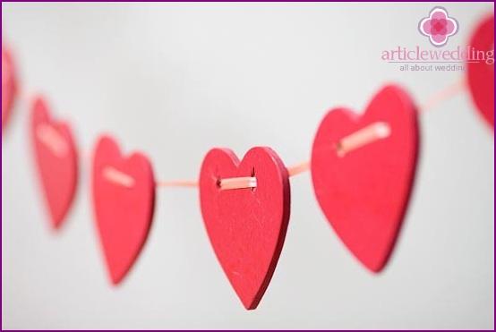 Zarte Herzen für eine Hochzeit