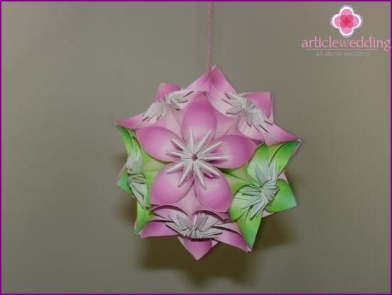 Origami-pallo