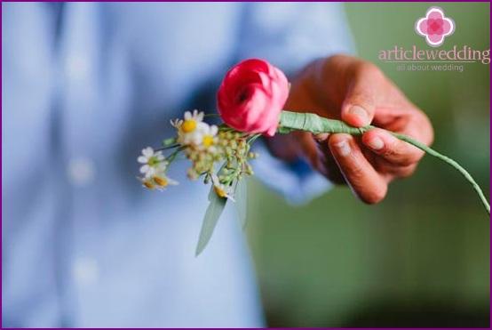 Shape the flowers