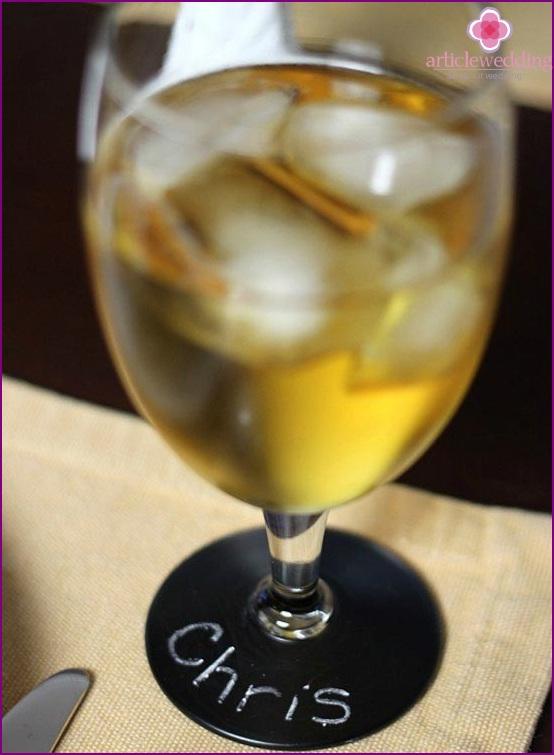 Glas mit Kreide-Schreibfläche