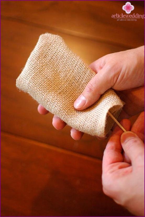 Tuck the fabric inward