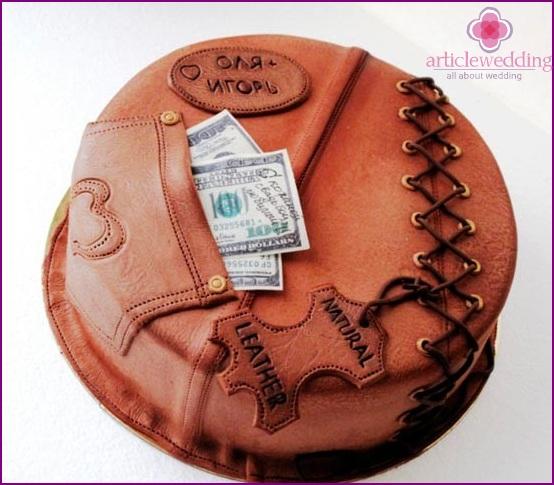 Leather cake