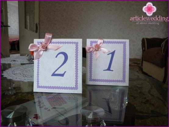 DIY wedding numbers