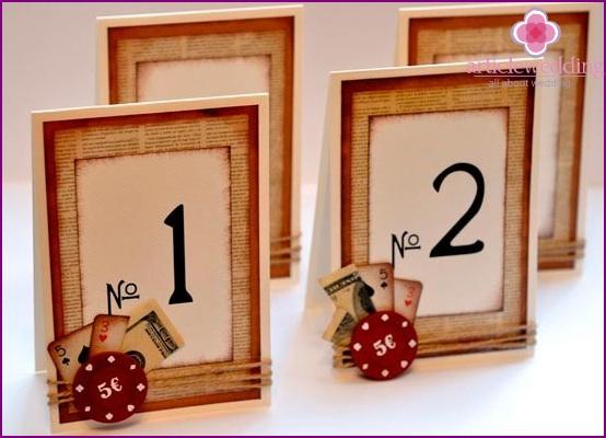 Fancy do-it-yourself wedding numbers