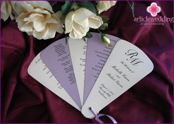 Stylish wedding programs