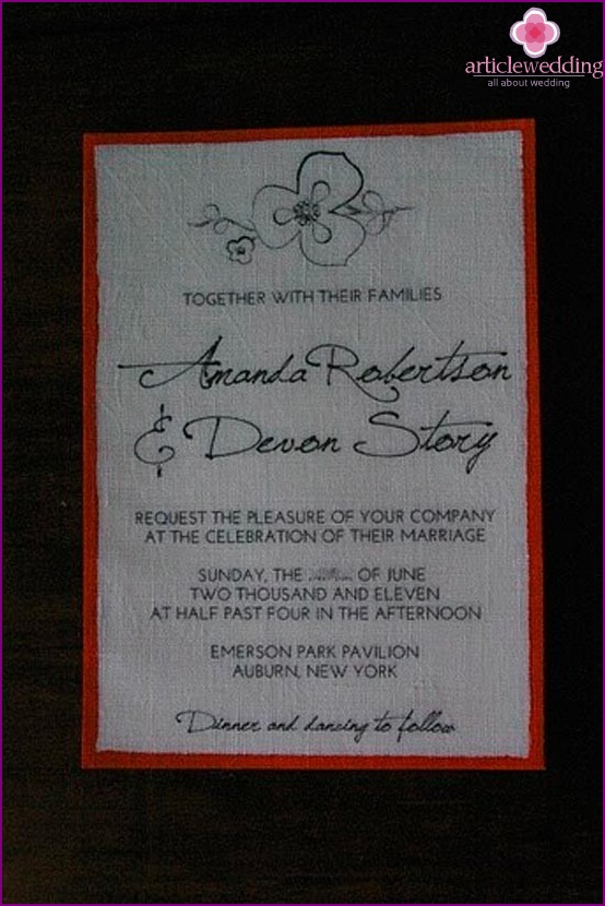 Ready-made invitation to send guests