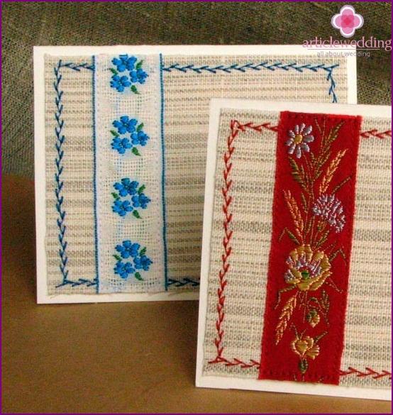 Folk style invitations