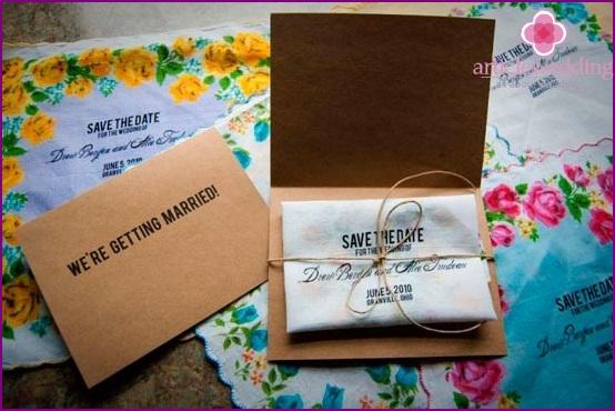 Vintage textile invitation