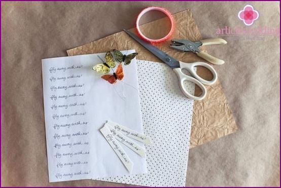 List of materials used