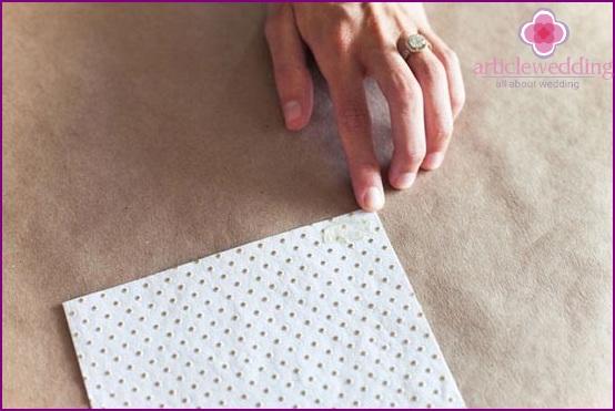 Postcard paper cutting