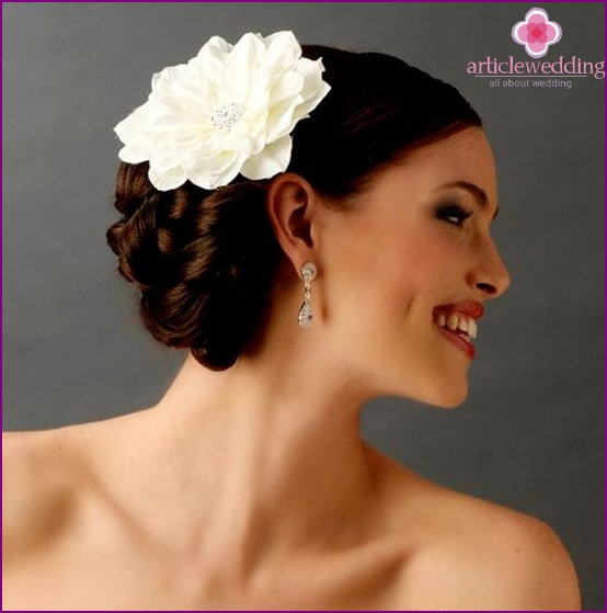 Accessory for bride hairstyle