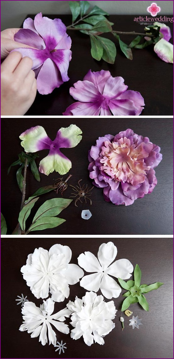 We sort artificial flowers