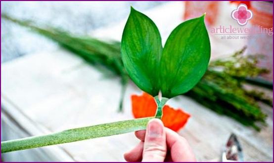Form floral arrangements