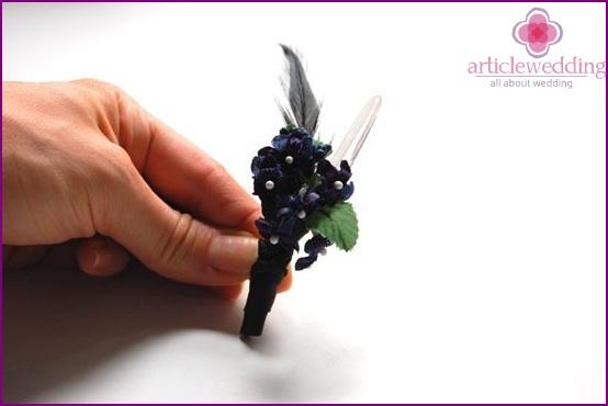 Make a leg with decorative ribbon