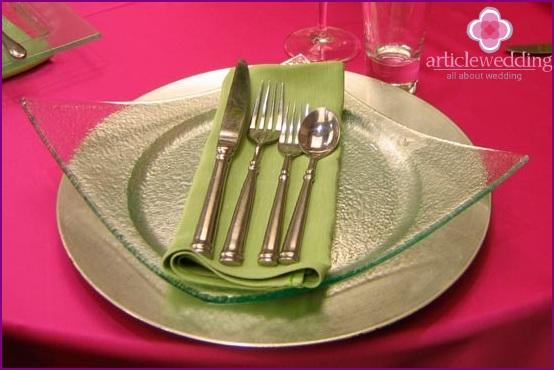 Fuchsia Hochzeitsdekor