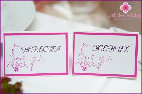 Bankettkarten a la Fuchsia