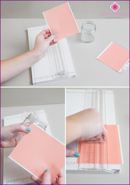 We measure a piece of adhesive paper