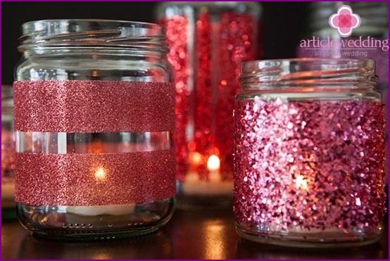 Luxurious wedding candle holder