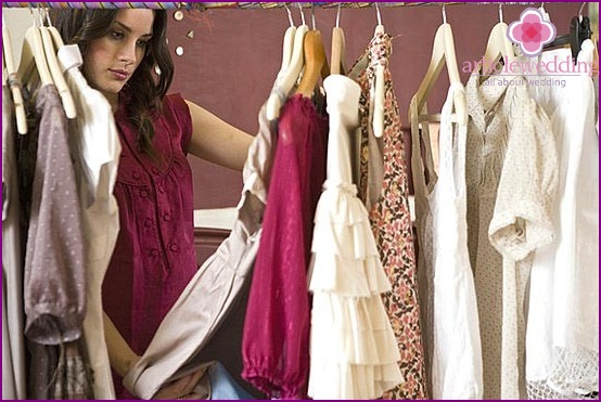 Women's clothing selection