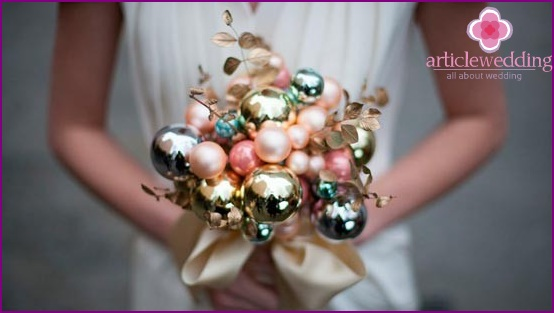 Beautiful bouquet of beads and balls