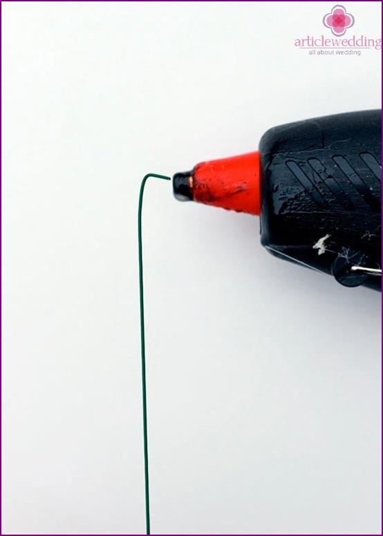 Glue the wire
