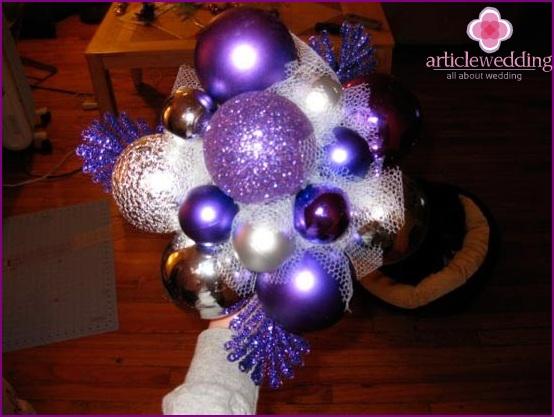 Balloons for a wedding bouquet