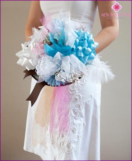 Trial wedding bouquet