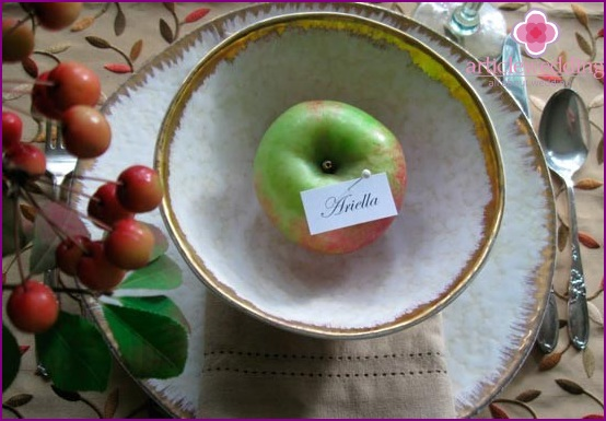 Stylish apples for a banquet
