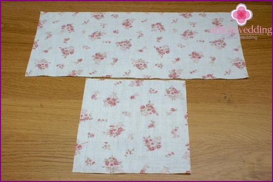 Cut two pieces of fabric